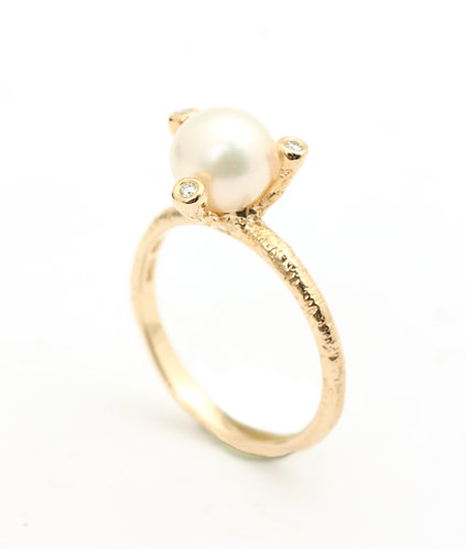 Twigs Saltwater Pearl ring
