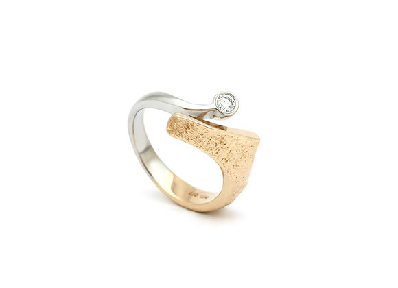 Classic to-farvet ring