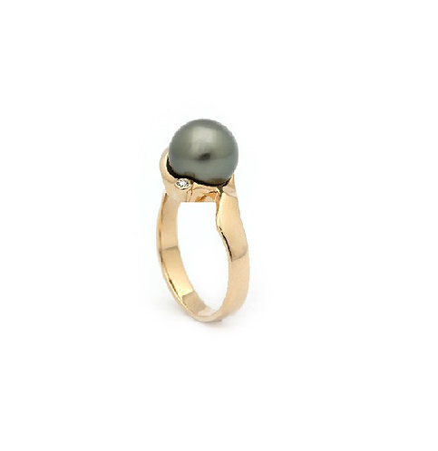 Classic tahiti pearl ring