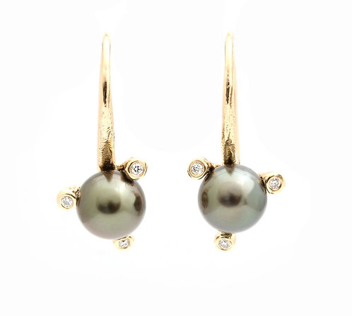Twigs Tahitian Pearl earrings
