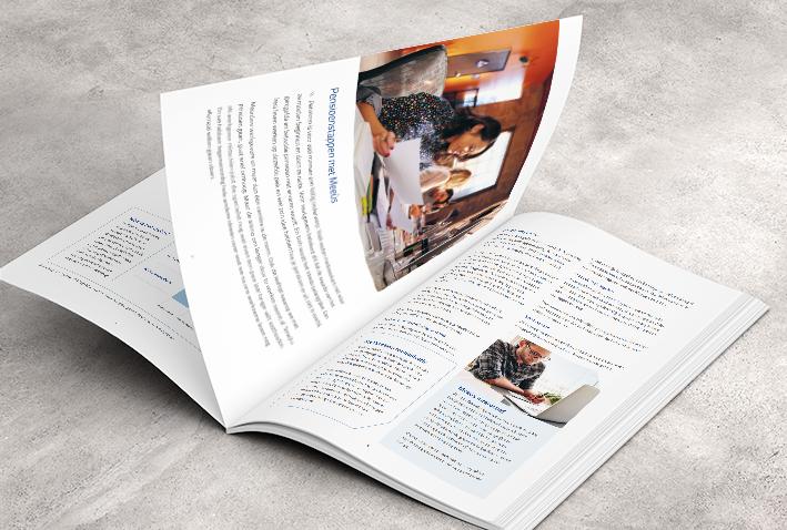 Brochures, folders, magazines opmaak voor Meeùs