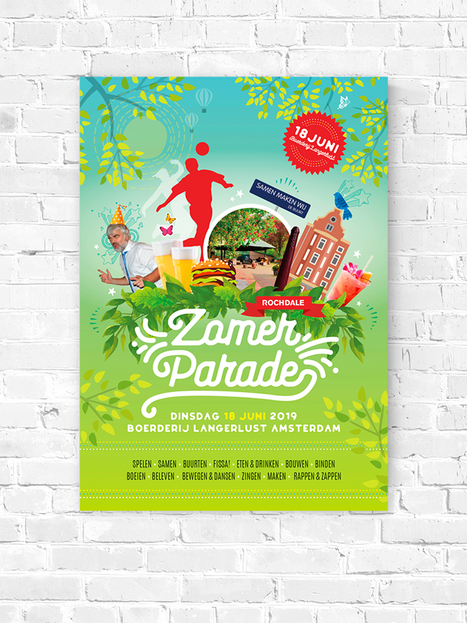 Ontwerp Poster Rochdale Zomer Parade