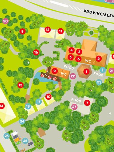Ontwerp + illustratie plattegrond Rochdale Zomer Parade
