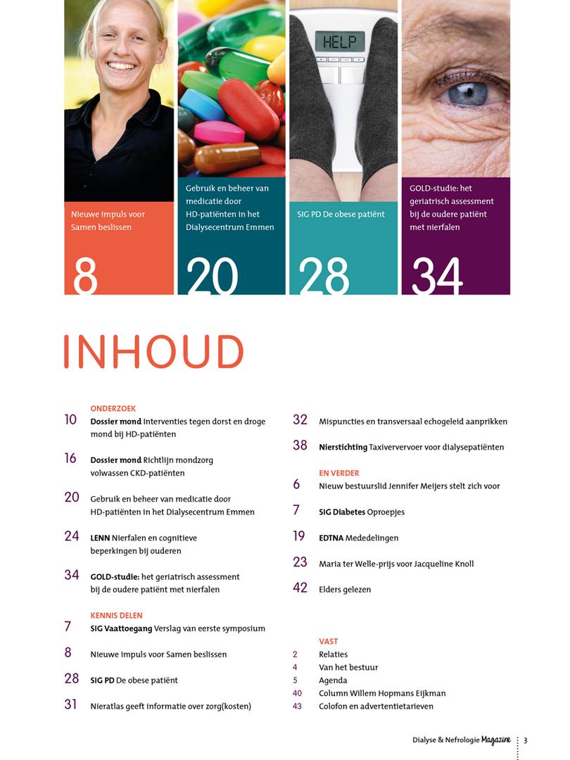 Inhoud Dialyse & Nefrologie Magazine