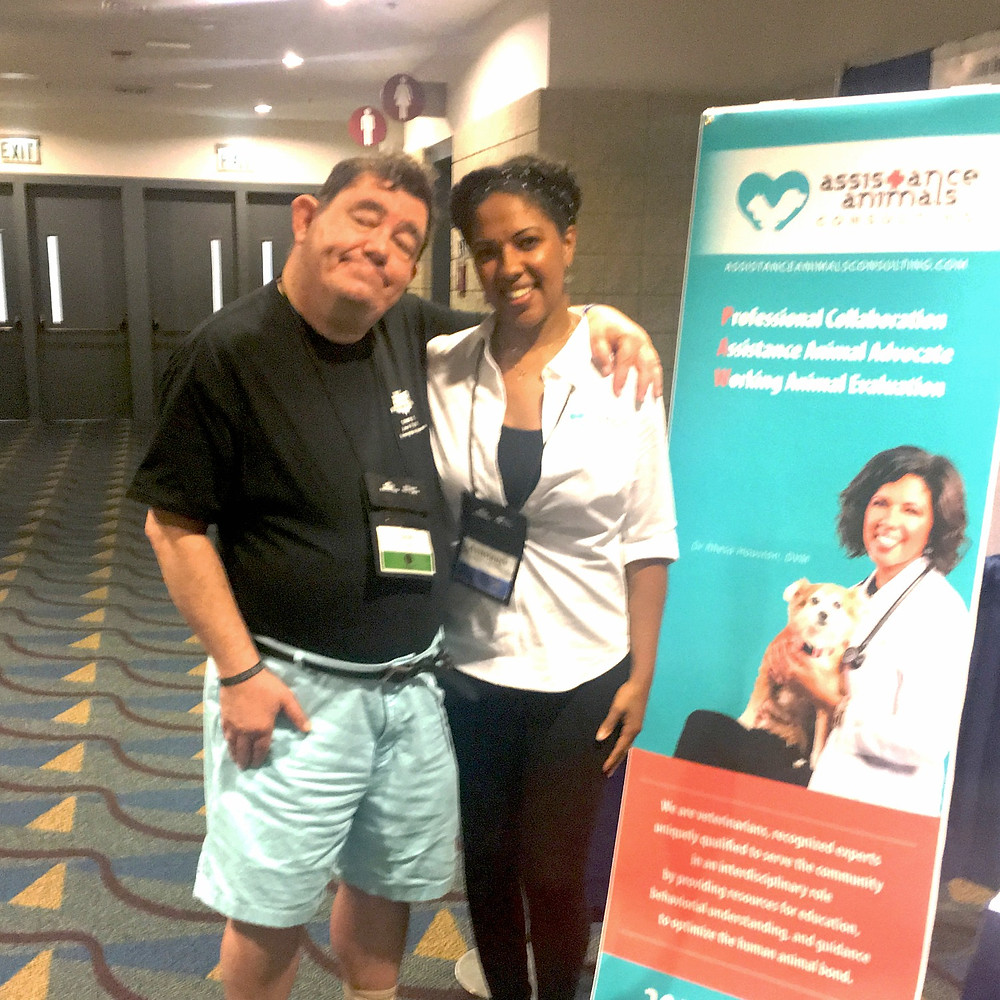 Dr Houston and Joe at the National Self Advocacy Conference