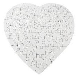 12 Rompecabezas en forma de corazón para sublimar - Medida 21x21cm