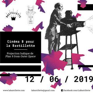 """""""Cinéma B pour la Bastillette"""" – projections – 12/06/2019"""