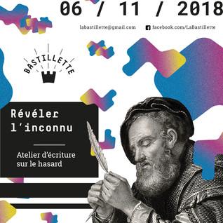 """""""Révéler l'inconnu"""" – ateliers d'écriture – 06/11/2108"""