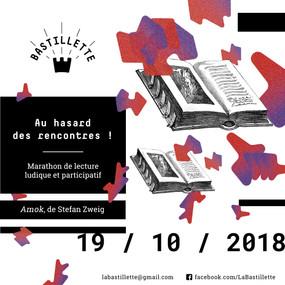 """""""Au hasard des rencontres"""" – une soirée pour lire… – 19/10/2018"""