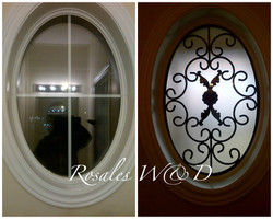 Oval Window with Valencia Design