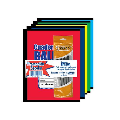 Promo: Cuaderno Balboa Grapa + BIC
