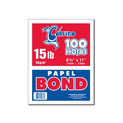 Bond Blanco 15 lb - 100 hojas