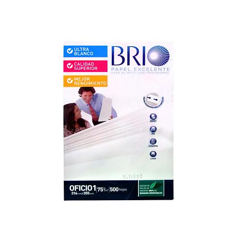"Papel Multifuncional 20lb BRIO 8.5 x 11"" (Carta)"