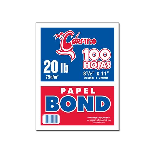 Bond Blanco 20 lb - 100 hojas