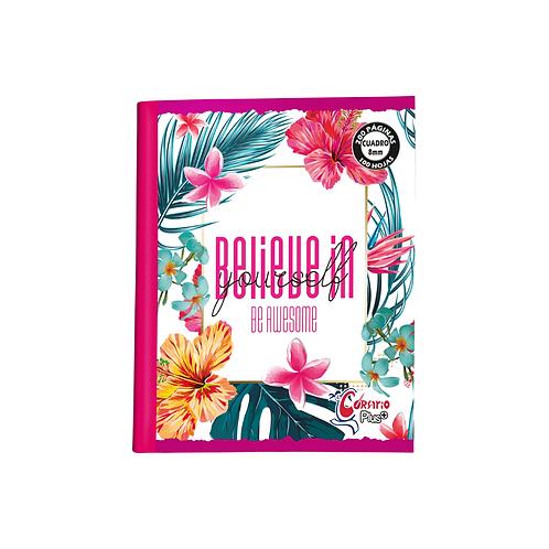 Cuaderno Corsario Plus 200 páginas Cuadros 8mm- Niña