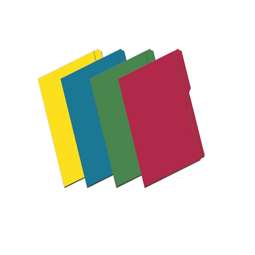 "Folder de Archivo de Colores 8.5 x 14"""