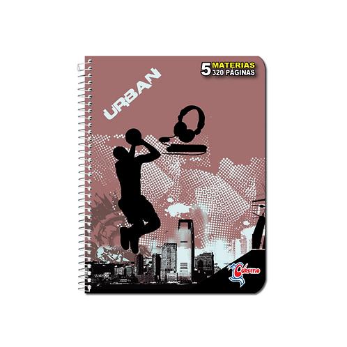 Libreta Espiral Corsario 5 materias