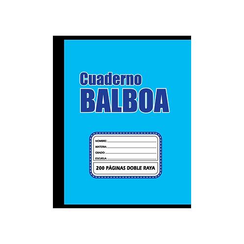 Balboa sencillo doble raya, 200 páginas