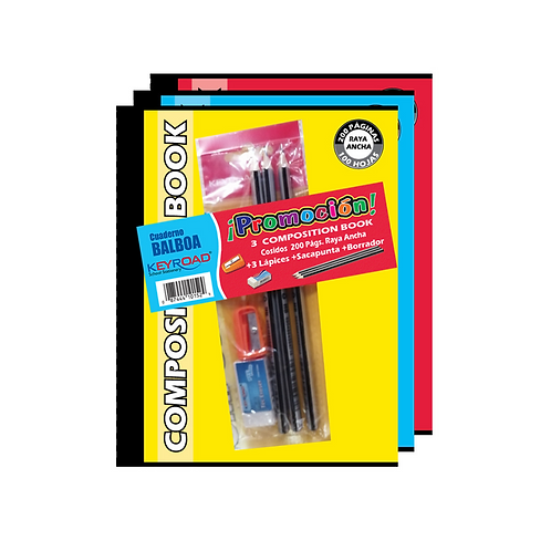 Promo: Cuadernos Composition Cosidos + Keyroad