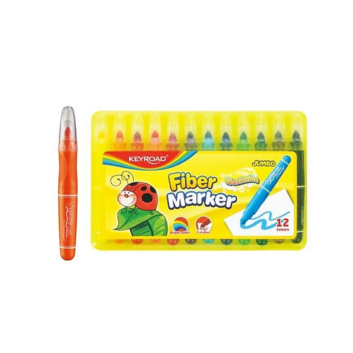 Marcadores Jumbo Extra Grueso, 12 colores