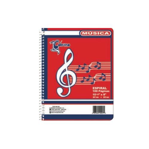 Libreta Espiralde Música Corsario
