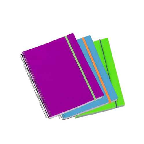 Libreta de Espiral Portada Plástica Splash