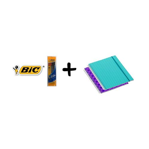 Promoción: 2 Libretas de Espiral Corsario Confetti + BIC