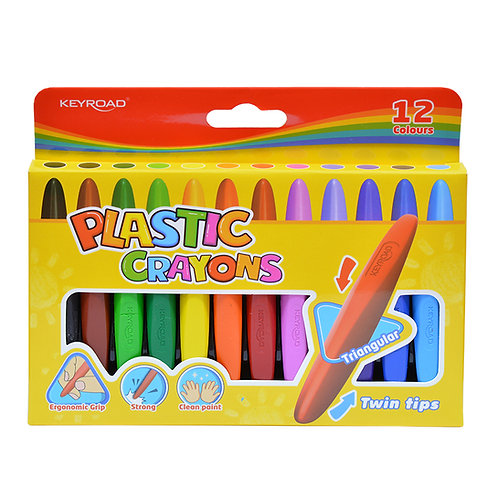 Crayones Triangulares, 12 colores