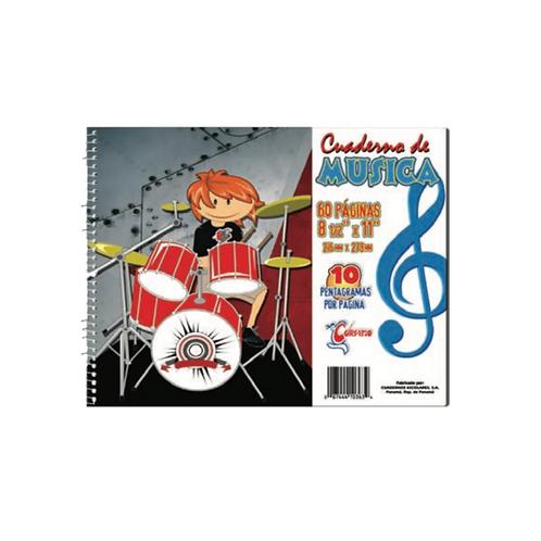 """Libreta de música con espiral corsario 8.5"""" x 11"""""""