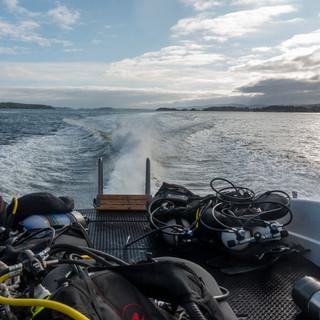 God plass til dykkerutstyr