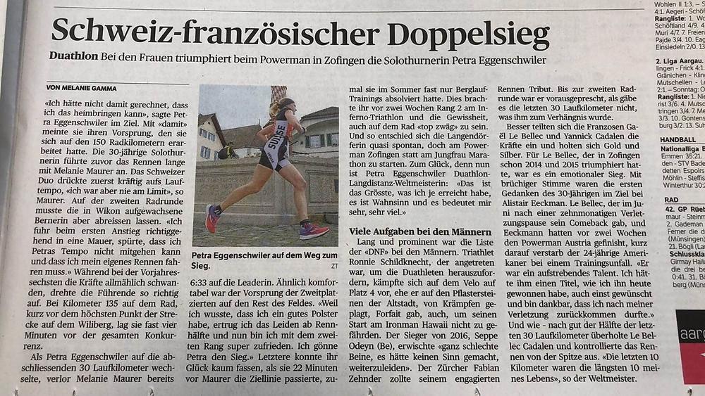 Zeitungsartikel Aargauer Zeitung