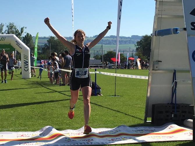 St. Moritz Duathlon: 3. Platz hinter zwei Profi Triathletinnen Spirig und Bilham