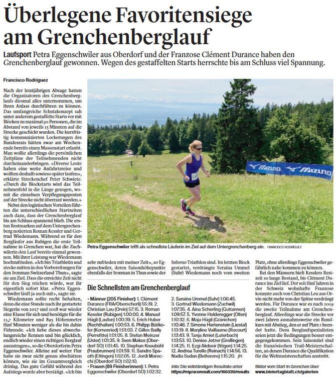 Sieg am Grenchenberglauf