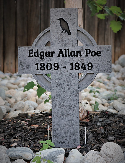 Edgar Allan Poe Replica Gravestone