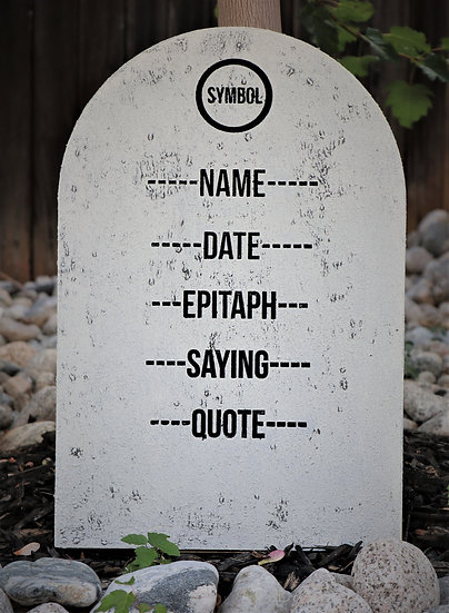 Custom Rounded Gravestone White