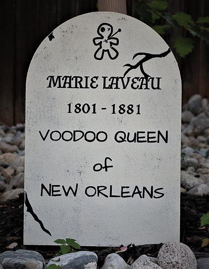 Marie Lavaeu Polystyrene Replica Gravestone