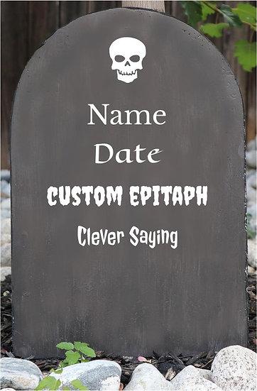 Custom Lightweight Concrete Gravestone/Tombstone Granite