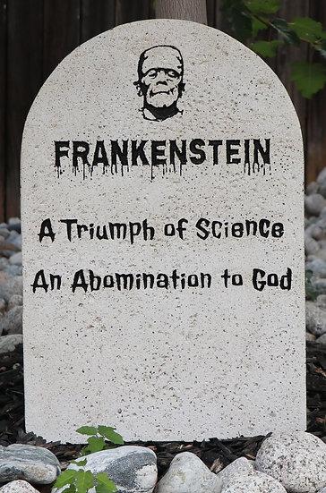 Frankenstein Lightweight Concrete Gravestone/Tombstone