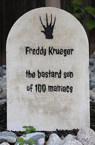 Freddy Krueger Lightweight Concrete Gravestone/Tombstone