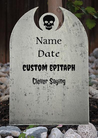 Custom Center Symbol Polystyrene Gravestone White
