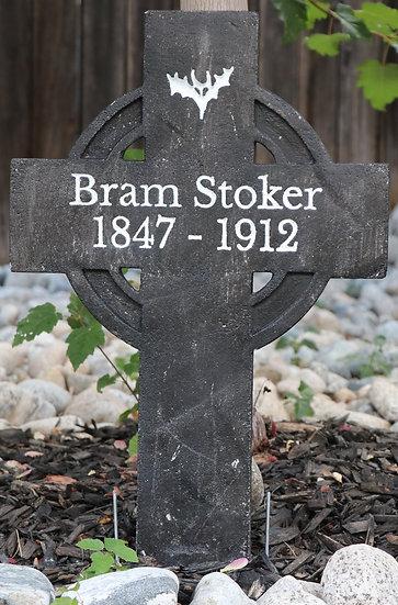Bram Stoker Lightweight Concrete Gravestone/Tombstone