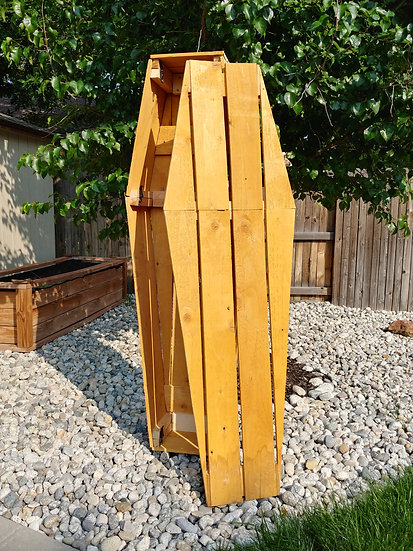 Full Sized Wooden Coffin