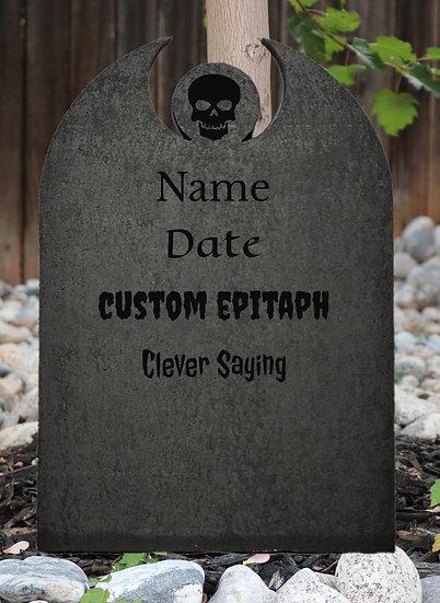 Custom Center Symbol Polystyrene Gravestone Granite Color