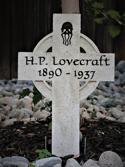 HP Lovecraft Lightweight Concrete Gravestone/Tombston