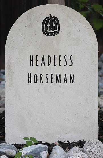 Headless Horseman Lightweight Concrete Gravestone/Tombstone