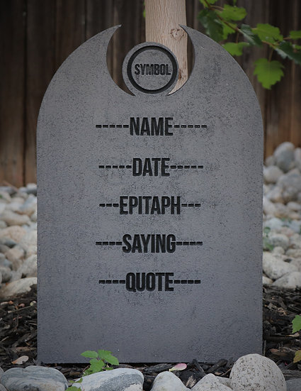 Custom Center Symbol Gravestone Granite