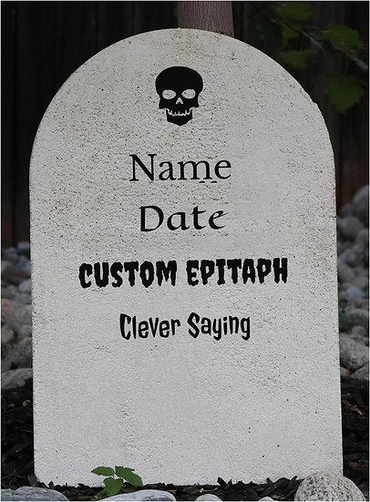 Custom Lightweight Concrete Gravestone/Tombstone White