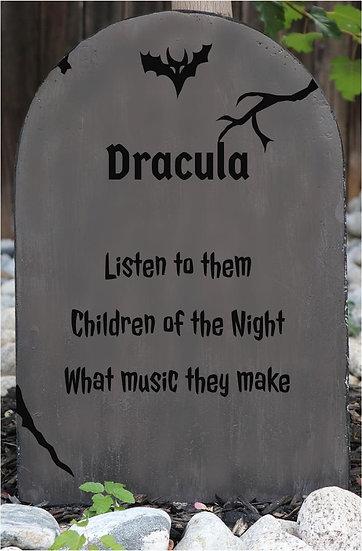 Dracula Lightweight Concrete Gravestone/Tombstone