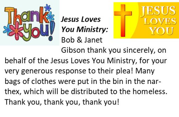 Jesus Loves You Ministry, Thanks You!.jp
