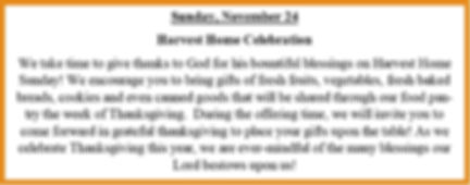 Harvest Home Collection-Noveber 24th